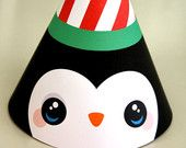 DIY Party Hat - Penguin or could make it for any bird