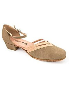 Honeystore Womens Prom Latin 1920s Mary Jane Ballroom Dance Shoes Salsa Performance Open-Toe