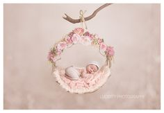 Digital backdrop/prop Woodland Swing Floral by LilleyBelleCouture