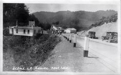 """Hawk's Nest Rock Resort at junction of highway 60 &WV 16--photo taken in 1920's or early 30's-from WV Commerce-Tourism, posted to FB by Lee Maynus-""""You are from Fayette County if you remember...."""""""
