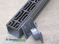 NDS® Mini Channel drainage kit features decorative cast iron trench grates in the Carbochon pattern. Drainage Grates, Yard Drainage, Trench Drain Systems, Deck Drain, Drainage Solutions, Drain Cover, Floor Drains, Deck Railings, Simple House