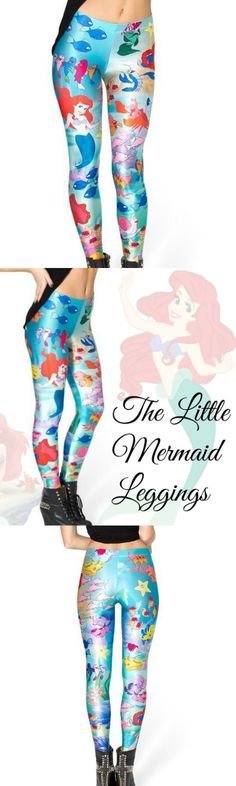 The Little Mermaid Leggings! Click The Image To Buy It Now or Tag Someone You Want To Buy This For.  #LittleMermaid