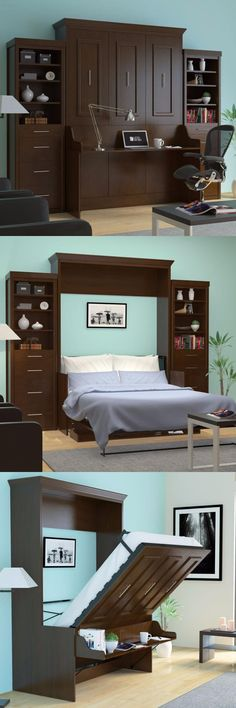 The Porter queen wall bed with a desk built in is a truly unique and versatile piece. Wish you could have a home office but still keep that room available and ready for guests, then the Porter queen wall bed with desk is your solution.