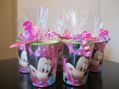 Minnie Mouse Bowtique Birthday Party Favors Souvenir Cup Goodie Bags Loot Bags #MinnieMouseBowtique #BirthdayChild