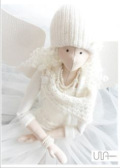 ULAdesign ----- www.facebook.com/ula.design #angels #tilda #doll #wings #withangels #gift #handmade #sewing