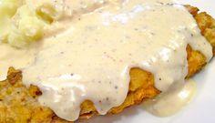 Texas Style Chicken Fried Steak with Cream Gravy