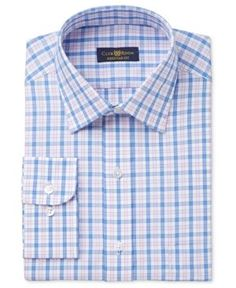 Club Room Men's Estate Classic/Regular Fit Pink Gingham Dress Shirt, Only at Macy's - Pink 16.5 34/35