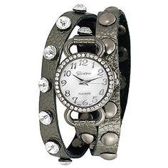 Geneva Platinum Womens Quartz Faux Chronograph Bracelet Watch