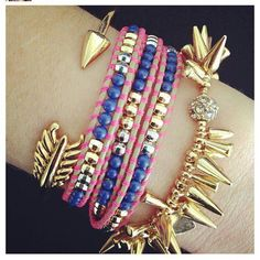 Arm Party!  Gilded Arrow, Wanderlust Wrap & Renegade Bracelet!  http://www.stelladot.com/ts/uwgn5