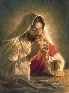 """The Gift of Love Fr Gabriel of St Mary Magdalen reflects on Institution of Eucharist, Jesus' Gift of Love, fm """"Divine Intimacy""""; artist Corbert Gauthier. See: http://www.spiritualdirection.com/2015/04/02/gift-of-love"""