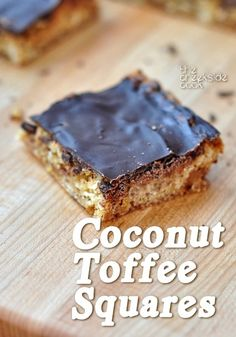 Chewy and rich and fabulous: Coconut Toffee Squares - The Creekside Cook