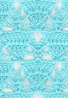 Lace crochet pattern with triangles Crochet Scarf Easy, Easy Crochet Stitches, Crochet Motif Patterns, Crochet Headband Pattern, Lace Patterns, Crochet Lace, Free Crochet, Knitting Patterns, Simple Crochet