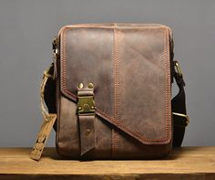 leather messenger bag / Leather satchel/ Cross body by QandJstudio, $72.00