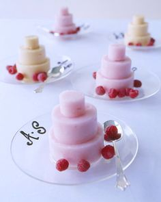Miniature Sorbet Wedding Cakes