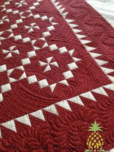 THE QUILTED PINEAPPLE: Settler's Puzzle   So FIne thread by Superior.  2 Dream Orient by Quilters Dream batting.    Pattern Settlers Puzzle by Pam Buda of Heartspun Quilts.