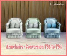 Armchairs 2 conversion at Nathalia Sims via Sims 4 Updates  Check more at http://sims4updates.net/furniture/armchairs-2-conversion-at-nathalia-sims/