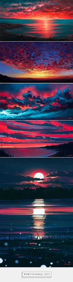 Of Sunrise And Sunset: Morbid Skies By Alena Aenami... - a grouped images picture - Pin Them All