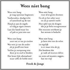 Wees niet bang ... ~ Freek de Jonge