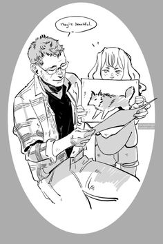 """cassandrajp: """"An exceptional step father. Luke and little Clary, for @cassandraclare """" So sweet and super personal to me – thanks CJ"""