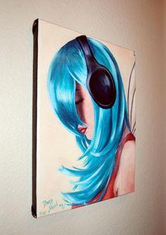 Urban Fairy Art Music Fairy Faerie Art LE Giclee by deannadavoli, $95.00