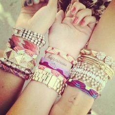 Bracelets bracelets bracelets ! #toobuku // www.thebukuproject.com