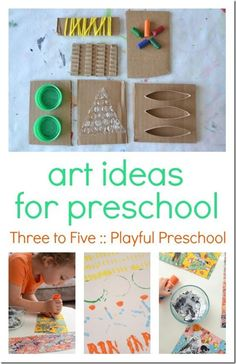 playful preschool learning ideas - art, math, science, and more!