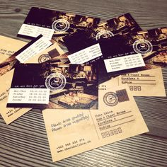 """some """"postcard looking"""" business cards for The Cuba Libre bar"""