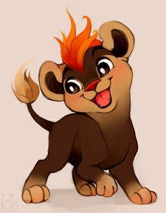Fire lion pokemon by Luigigurl on DeviantArt