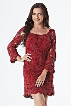 Vestido Marsala Charme