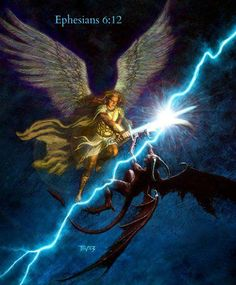 """Spiritual Warfare. - Ephesians 6:12, """"For we wrestle not against flesh and blood, but against principalities, against powers, against the rulers of the darkness of this world, against spiritual wickedness in high places."""""""