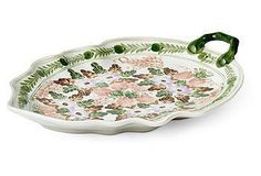 This beautifully painted porcelain plate will always come in handy when guests are around.