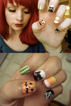 Halloween nails by TinyTangerines