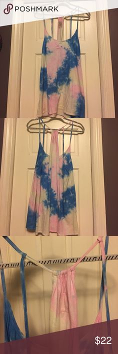 Chaser Tie Dye Tank Worn once. Super cute as a beach cover up or with some cut offs and Vans! Oversized arm holes with extra straps in back and gathers at the top. Wear with a bralette and you're set. Super cute. Chaser Tops Tank Tops