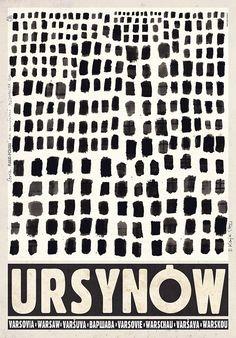 Ursynow, Polish Promotion Poster by Ryszard Kaja