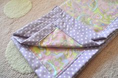 DIY Baby Gifts -- Baby Blanket. Step by Step directions.