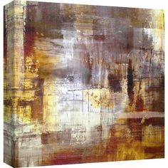 Equally at home in an artful collage or on its own as an eye-catching focal point, this charming framed print showcases an abstract motif in brown and gold.