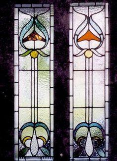 How To Make Notes, Stained Glass, Art Nouveau, Porch, Balcony, How To Take Notes, Stained Glass Panels, Four Seasons Room, Leaded Glass