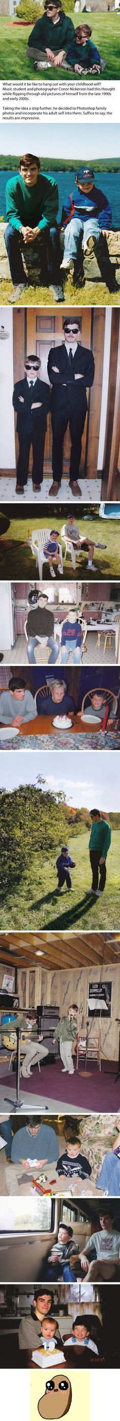 This Man Seamlessly Photoshops Himself Into His Old Childhood Photos