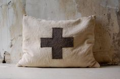 enhabiten cross pillow lavender and buckwheat hulls.  Nice Etsy shop.  I would love a bag like this.