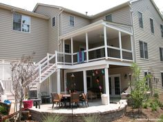 2 story deck... So we could have a private balcony for the master!!!