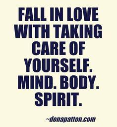 """""""Fall in love with taking care of yourself. mind. body. spirit.""""   #quote #soundmindsoundbody - gypsy grrl jewelry gypsygrrljewelry.com"""