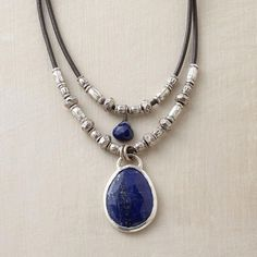 TWOFOLD LAPIS NECKLACE - Designed Exclusively by Peyote Bird Designs for Sundance Catalog.