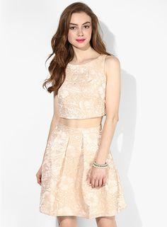 Buy Miss Selfridge Beige Printed Crop Top Online - 2792691 - Jabong Miss Selfridge, Lakme Fashion Week, Crop Tops, Html, Two Piece Skirt Set, Beige, Skirts, Shopping, Dresses