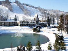Boyne Mountain Resort Ski Resort - Resort and ski area overview Boyne Mountain Resort, Winter Family Vacations, Sky Resort, Boyne City, Michigan Travel, Michigan Usa, Northern Michigan, Great Lakes, Vacation Spots