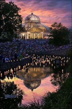 Lantern Lighting Festival for Obon, Como Park Zoo and Conservatory, Saint Paul, Minnesota.