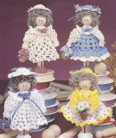 Clothespin Angels Crochet Patterns