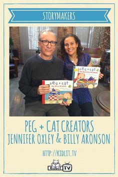 KidLit.TV StoryMakers Interview authors Jennifer Oxley & Billy Aronson from PEG + CAT on PBS Such a fun series to explore MATH with kids.