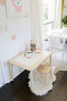 Toddler Table, Toddler Rooms, Kid Table, Sensory Table, Sensory Bins, Kids Living Rooms, Kids Play Area, Kids Room, Ikea Desk