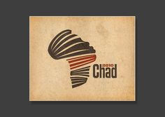 Vibrant and ethnic logo icon of a head and the shape of Africa - designed by Daniel Moskal