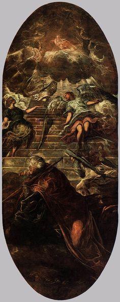 Tintoretto ~ De Jakobsladder ~ 1577-1578 ~ 660 x 265 cm. ~ Scuola Grande di…